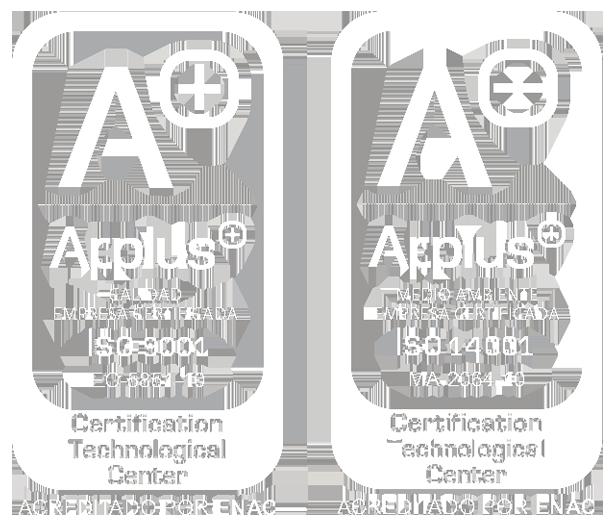 UNE–EN–ISO 9001:2008 // UNE–EN-ISO 14001:2004